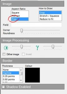 How to adjust aspect ratio