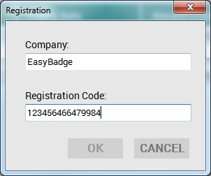 Registering EasyBadge 3