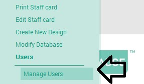 Setting up user accounts EasyBadge 2